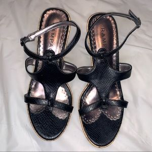 Rampage Wedges Black Shoes